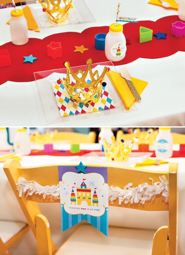 Royal Birthday Party Kids Table and Chairs
