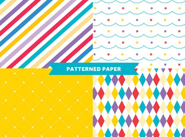 free royal birthday printables from HWTM - Patterned Paper
