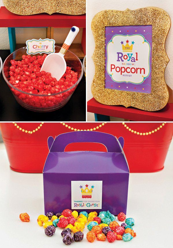 Rainbow Royal Birthday Popcorn