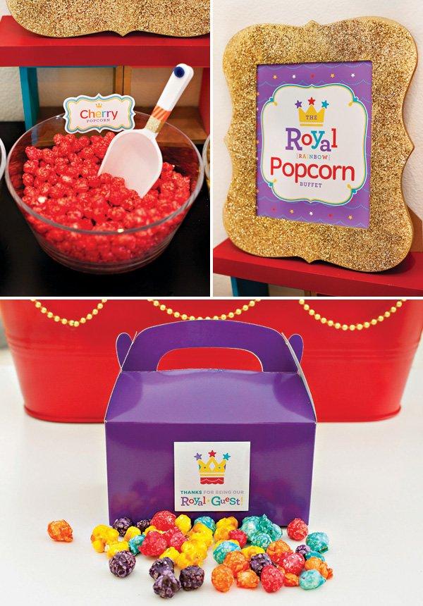 Rainbow Royal Birthday Popcorn