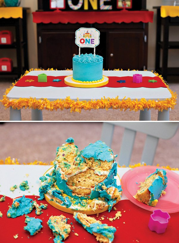 Royal First Birthday Smash Cake