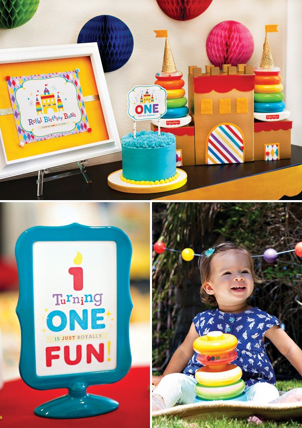 Fantastic Toy Inspired Royal First Birthday Bash For Fisher Price Hostess Personalised Birthday Cards Beptaeletsinfo