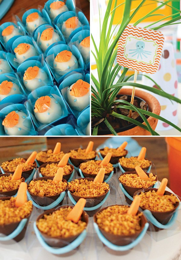 sand pail ocean themed desserts