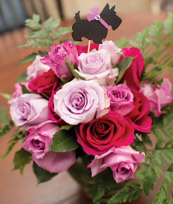 scottie dog rose bouquet