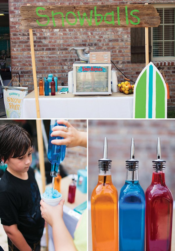 snow cone machine party rental