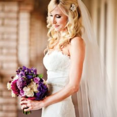 strapless lace bridal gown