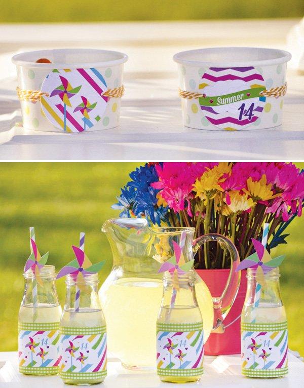 summer pinwheel party printables