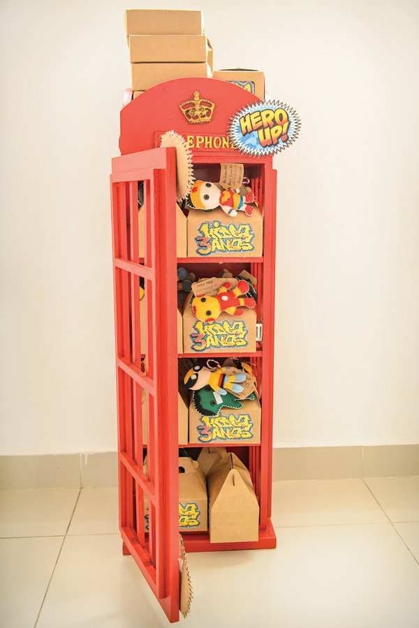 superhero party phone booth