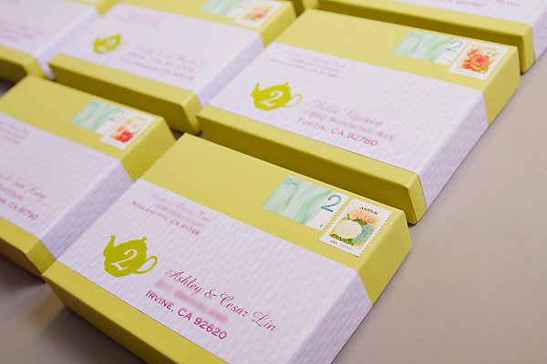 tea party box invitation