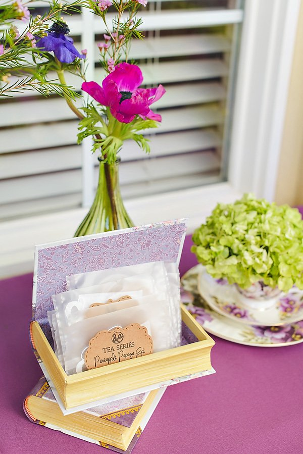 tea party tea bag favors