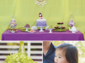 tea party second birthday dessert table