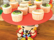 thor and other superhero cupcakes