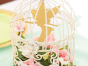 floral tinkerbell cage centerpiece