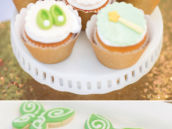 tinkerbell cupcakes and fairy wing cookies