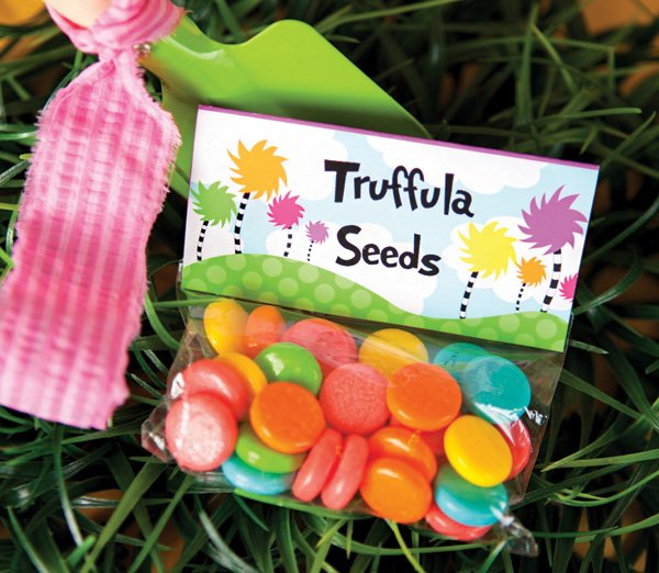 truffula seeds candy favor bags