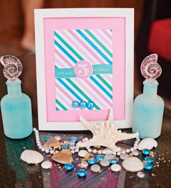 under the sea girly birthday party decor
