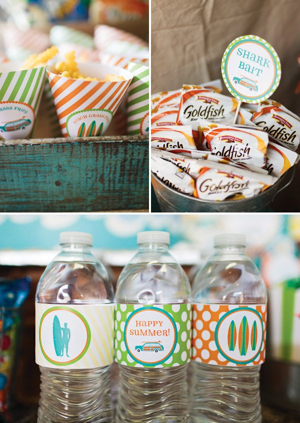 vintage beach party printables