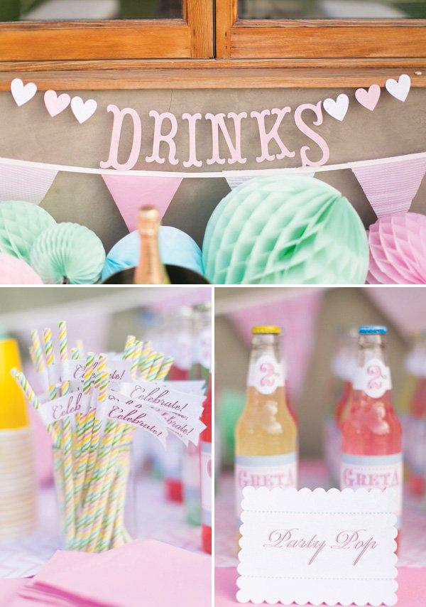 vintage soda pop drinks table