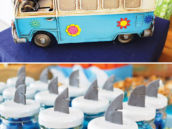 vintage surfer's van party decor