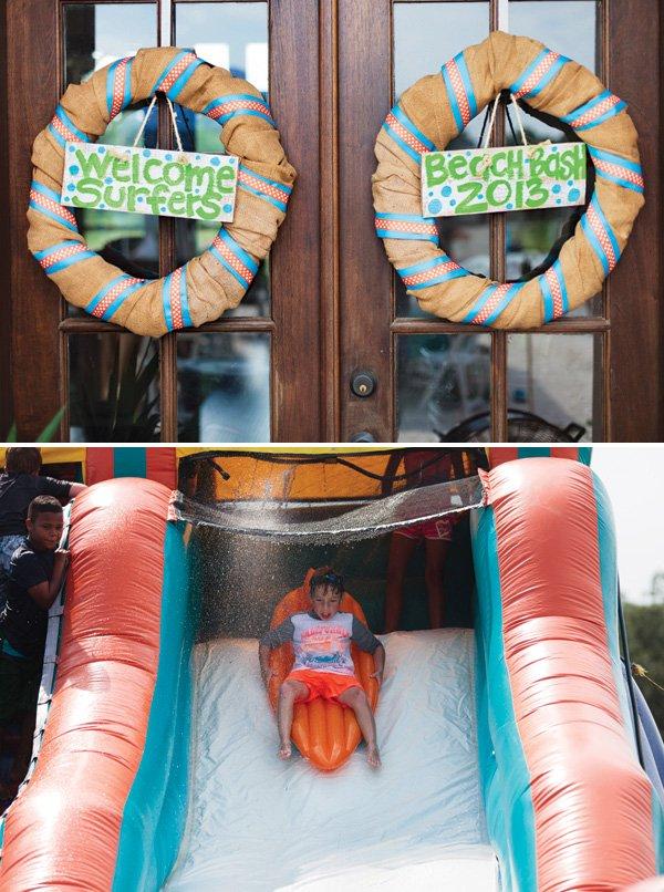 water slide beach party rental