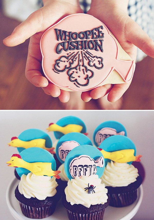 whoopee cushion party desserts