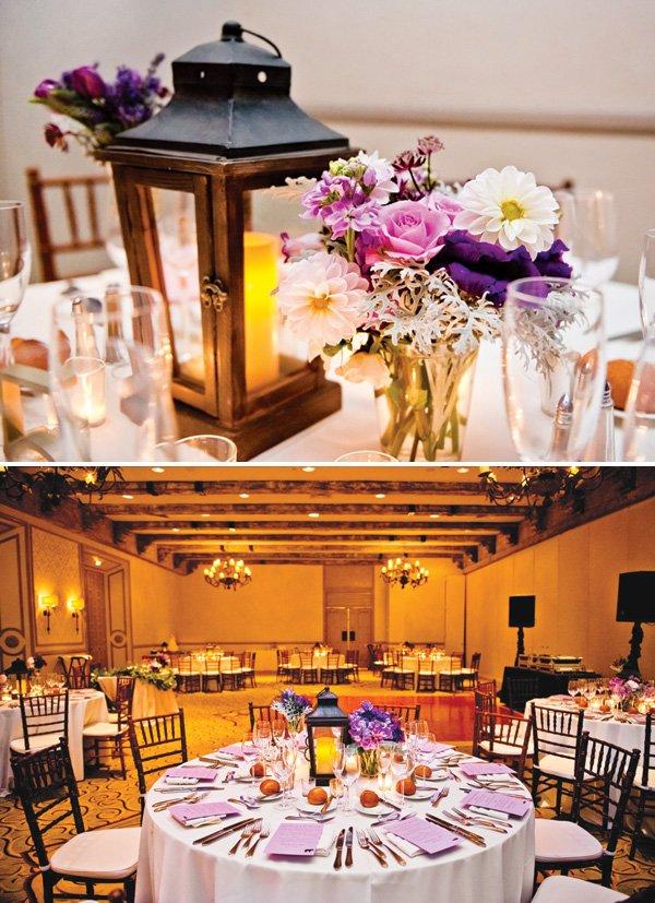 wooden lantern wedding centerpieces