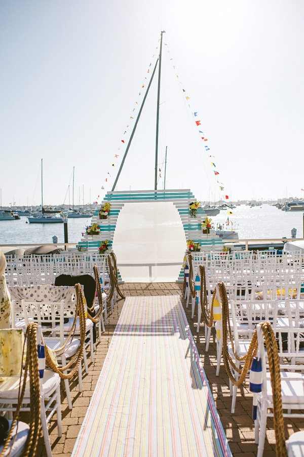 oceanside dock wedding ceremony venue