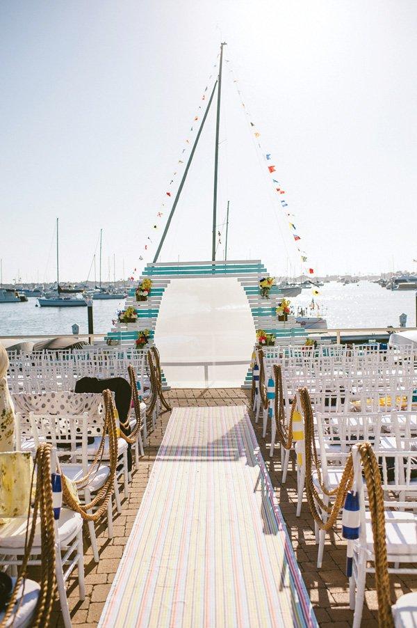 oceanside dock wedding ceremony venue