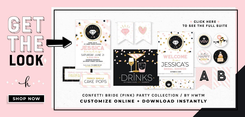 Confetti Bride Pink Printables