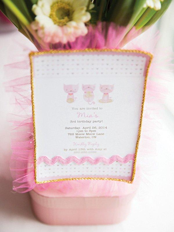 DIY embellished party invitation