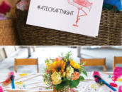 DIY pineapple stamped tablecloth