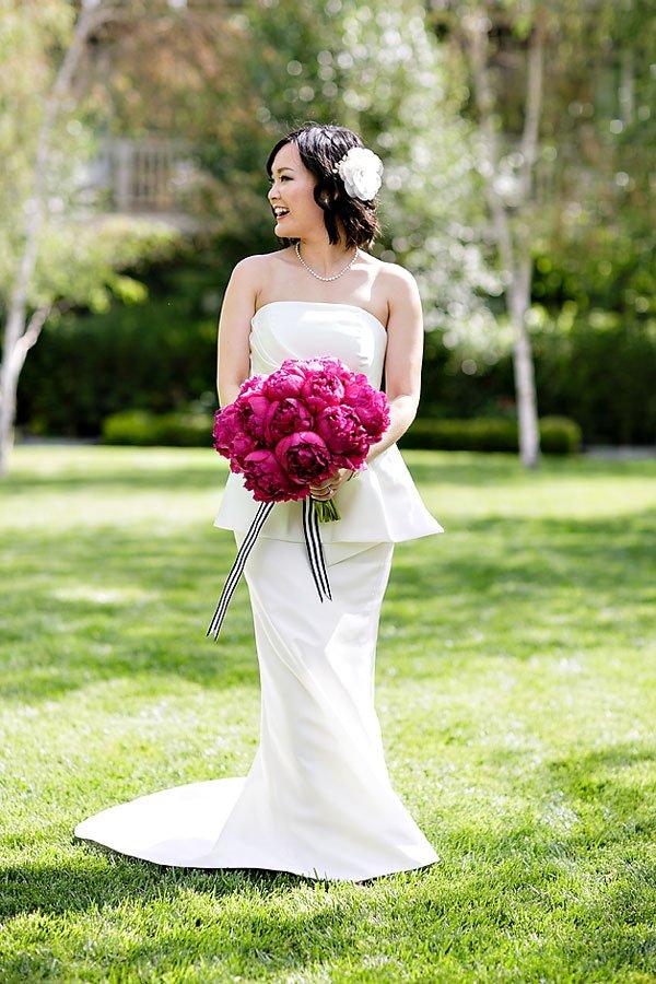 striped wedding bouquet