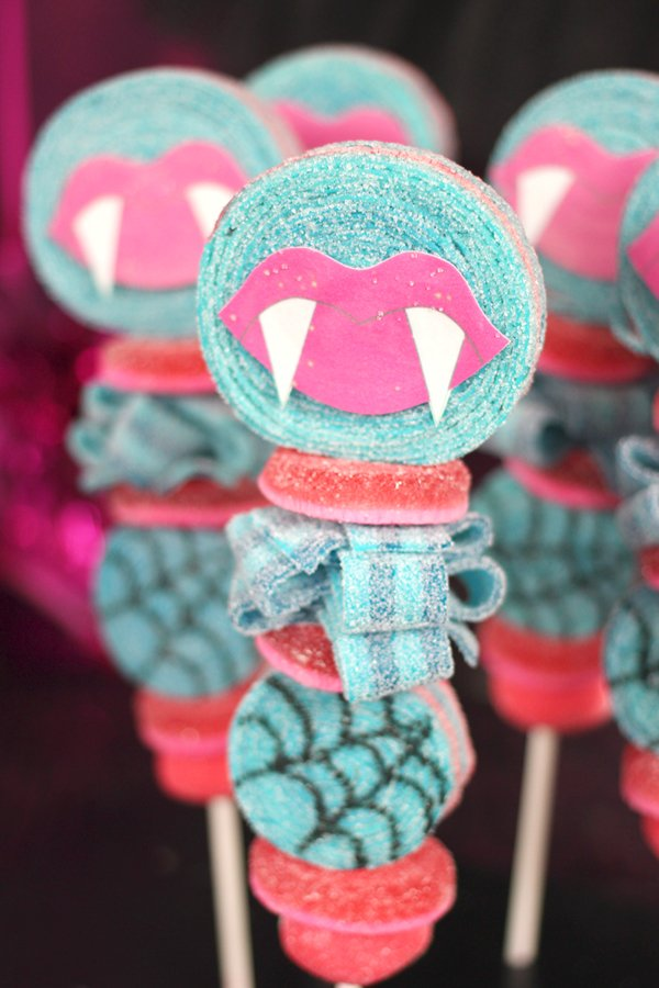 Monster High candy kabobs