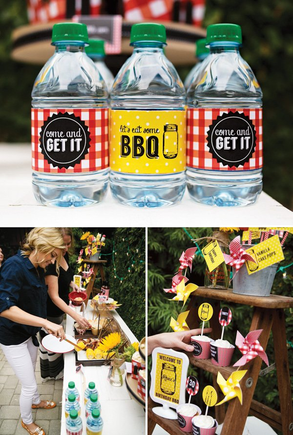 backyard barbecue buffet and party printables