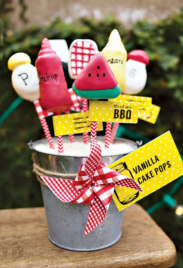 barbecue party cake pops