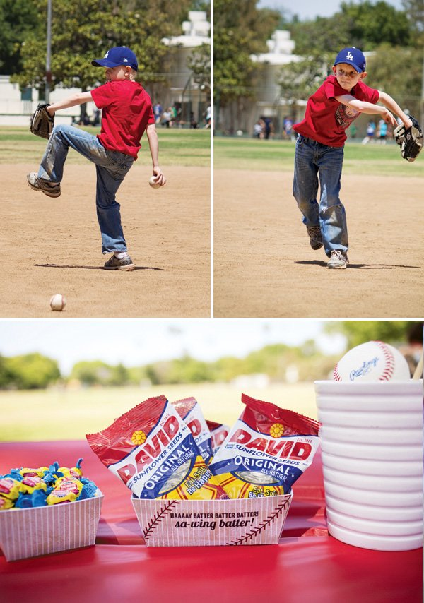 baseball game birthday party snacks