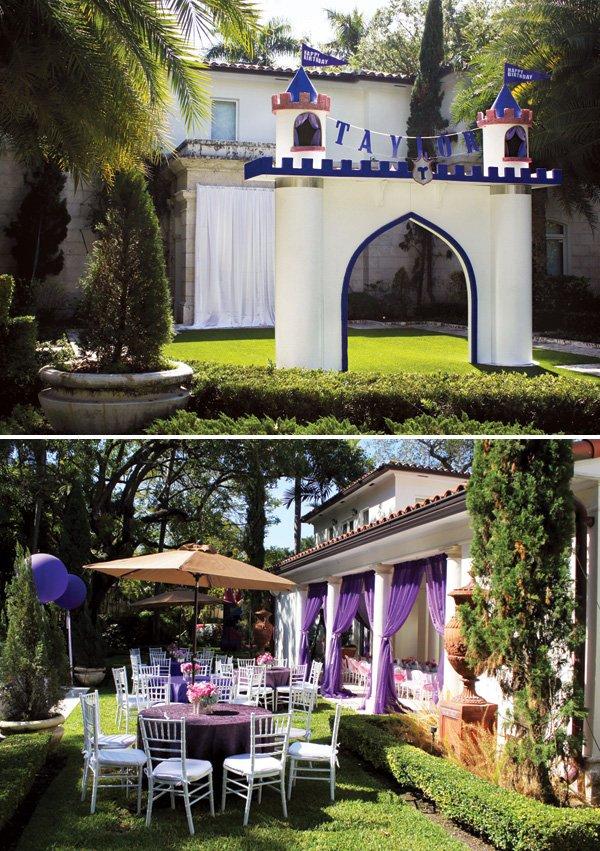 birthday party castle entrance