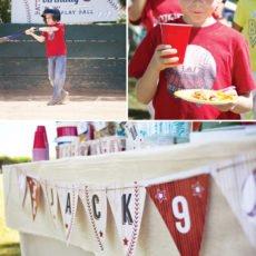 boy's baseball birthday party