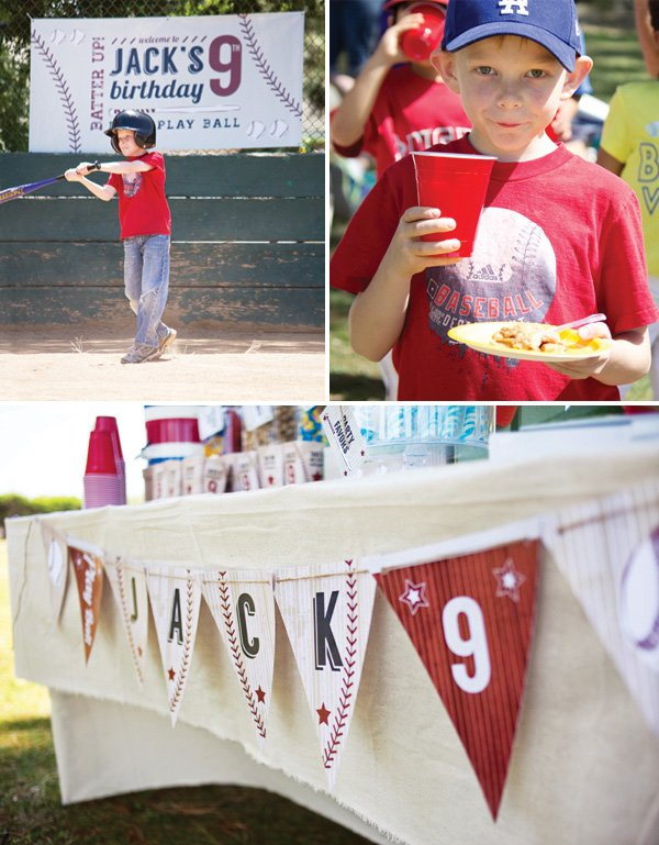 boy's baseball birthday party