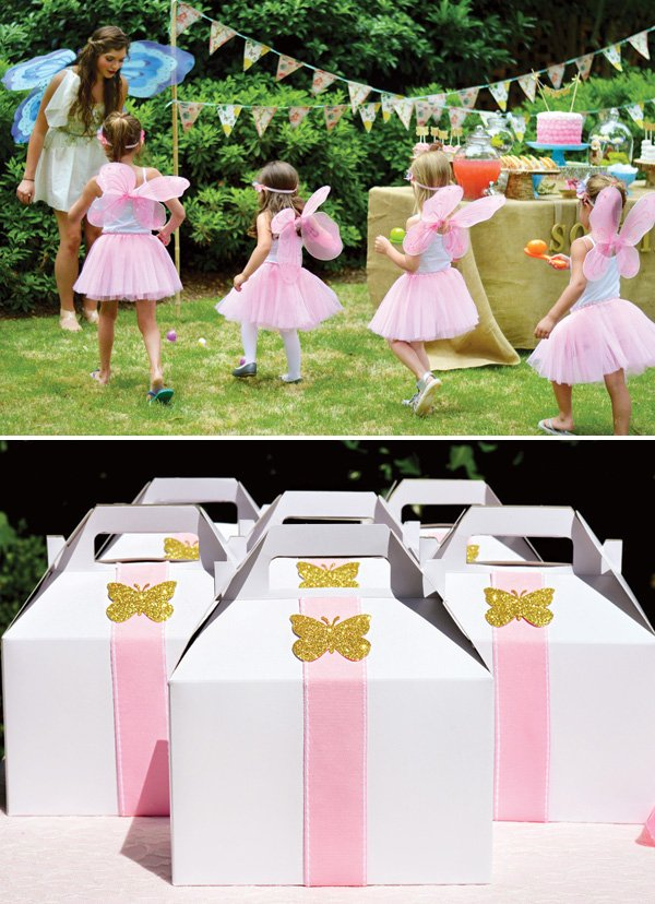 butterfly birthday party favor boxes