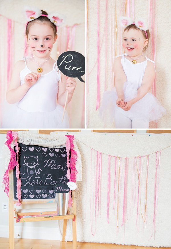 kitty cat themed photo booth