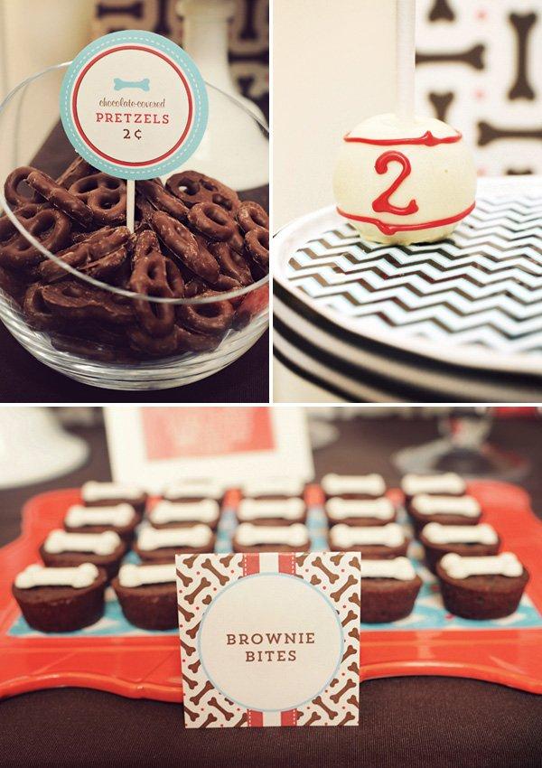 puppy birthday party snack and dessert ideas