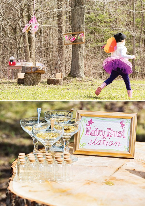 birthday party fairy dust station activity