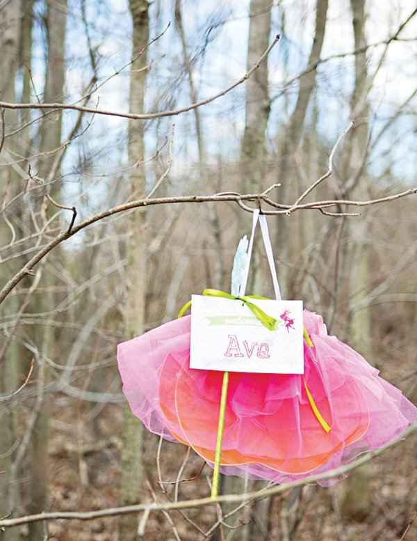 fairy's pink tutu and wings party favors