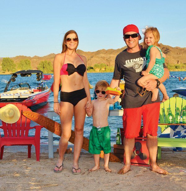 family river boating day party