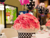 flamingo party table centerpiece