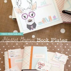 Free Printable Hipster Animal Bookplates by HWTM