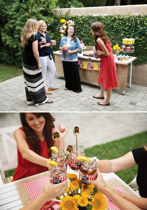 girls night in birthday party barbecue