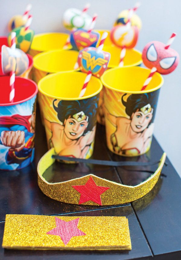 gold wonder woman crown and wristband