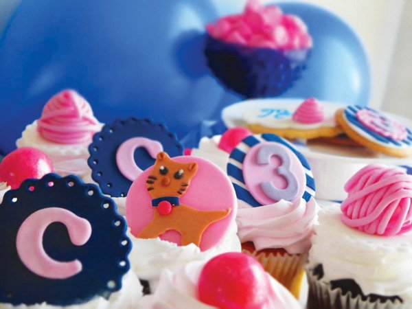 kitty cat party cupcakes